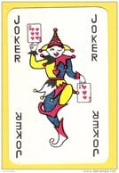 Joker Dansant Avec 6 Et 3 De Coeur, écriture Noire - Verso Bleu - Cartes à Jouer Classiques