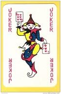 Joker Dansant Avec 6 Et 3 De Coeur, écriture Rouge - Verso Bleu - Cartes à Jouer Classiques