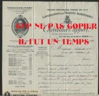 PARIS 75020 -  CHEVALLIER APPERT - Conservatoire Des Produits Alimenataires-  1923 - Francia