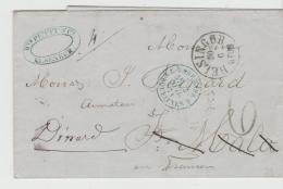 DK-F7002 / DÄNEMARK -  Elseneur 1871 Nach Frankreich Mit Weiterleitung - Lettere