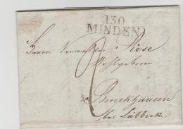 Pre102 / PREUSSEN -  Minden 1811, Ab Diesem Jahr Französisch. Spesenrechnung Als Inhalt - Duitsland