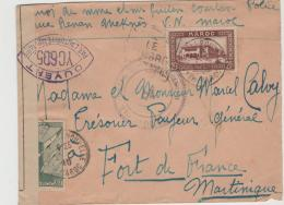 FAF020 / Maroc (Meknes) Nach Martinique. Februar 1940 Mit Zensur - Marokko (1891-1956)