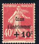 Francia Caisse D'Amortissement 1930 N. 266 C. 10 Su C. 40 Rosa MNH Cat. € 85 - Sinking Fund