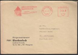 Germany Blankenloch 1973 / Industriegemeinde Blankenloch / Machine Stamp - Fabbriche E Imprese