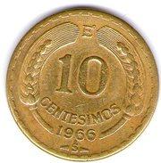 Cile 10 Centesimos 1966 - Cile