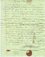LETTRE Par D'ANTHENAY Père NEGOCIANT CHAMPAGNE à EPERNAY 1812 Pour VEUVE CLIQUOT PONSARDIN SIGN. MACONNIQUE  B.E.V.SCAN - Manuscripts