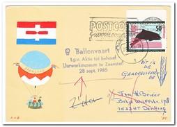 Ballonvaart T.g.v. Aktie Tot Behoud Uurwerkmuseum Te Zaanstad 28-9-1985 - Luchtballons