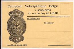 LIEGE  Comptoir VELOCIPEDIQUE BELGE J SCHOLBERG CYCLES MEPHISTO C.V.B.  372/d2 - Publicité