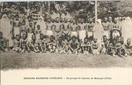 FIDJI GROUPE DE LEPREUX DE MAKOGAI MISSIONS MARISTES D OCEANIE - Fidji