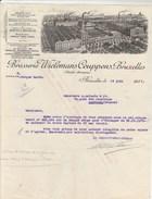 Lettre Illustrée 16/6/1931 Brasserie WIELEMANS CEUPPENS  BRUXELLES Belgique - 1900 – 1949
