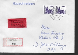 DDR   Lettre   Recommandée   Monuments Eglises - Kerken En Kathedralen