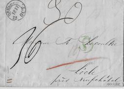 VORPHILATELIE → 1847 Brief Von Dresden Nach Lôcle/Suisse ►Stempel LOCLE 17.OCT.1847, Mit Grünem S◄ - Schweiz