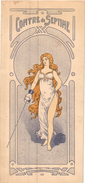 1901 CONCORDE 2 Cartes 22cmX10,5cm Programme MAITRES D'ARMES Civils & Militaires FENCING ESCRIME FECHTEN  Fleuret Sabre - Escrime