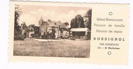 B-6247    MARBEHAN : Hotel-restaurant Rossignol ( Format 12,5 X 6,5 Cm) - Aarschot