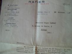 Facture  Ratier Aviation Marine A Montrouge Annee 1948  Lettre A Entete - Transport