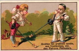 3 Trade Cards  FENCING ESCRIME FECHTEN Pub Patrons PATISSIERS Chocolat Du Planteur - Schermen