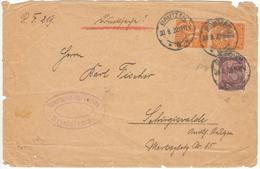 Germany Bautzen 1922 / Dienstmarke Paar 30 + 15 - Deutschland