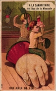 3 Trade Cards  FENCING ESCRIME FECHTEN Pub La Samaritaine Carcasonne Imp Courbe-Rouzet Willems Gent - Escrime