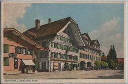 Escholzmatt (Luzern) Hotel Gasthaus Krone Mit Metzgerei - Animee Auto - Photo: Hugo Kopp No. 3024 - LU Lucerne