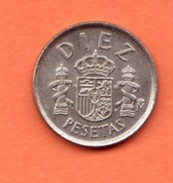 Espagne, 10 Pesetas, 1985 - [ 5] 1949-… : Kingdom