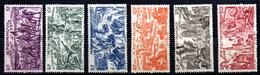 Col3 :  AEF Afrique PA : N° 44 à 49 Neuf X MH , Cote : 13,00€ - A.E.F. (1936-1958)