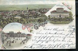 BOHEMIA CZECH JIRKOV GÖRKAU 1897 VINTAGE LITHO POSTCARD - República Checa