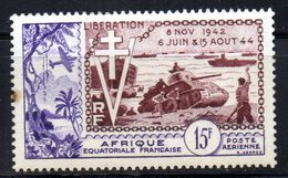 Col3 :  AEF Afrique PA : N° 57 Neuf X MH, Cote : 9,00€ - A.E.F. (1936-1958)