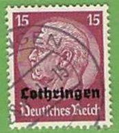 MiNr.8 O Deutschland Besetzte Gebiete II.WK Lothringen - Besetzungen 1938-45