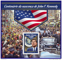 GUINEA BISSAU 2017 ** Birthday Geburtstag Anniversaire John F. Kennedy S/S - OFFICIAL ISSUE - DH1709