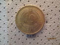 CHILE 10 Centesimos 1967 - Chile