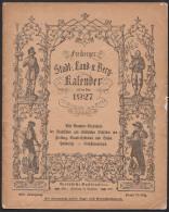 Freiberger Stadt-, Land- U. Berg-Kalender Auf Das Jahr 1927, Bild Ararat, Arche Noa - Big : 1921-40