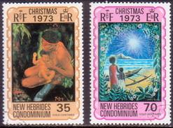 NEW HEBRIDES(English Inscr.) 1973 SG 182-83 Compl.set Used Christmas - English Legend