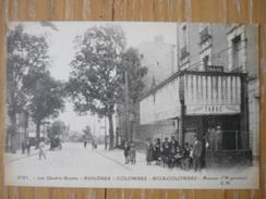 CPA LES QUATRE ROUTES- ASNIERES-COLOMBES-BOIS COLOMBES- AVENUE D'ARGENTEUIL- - Asnieres Sur Seine