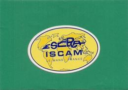 Autocollant   -   ISCAM - Institut Supérieur Du Commerce Automobile LE MANS - Autocollants