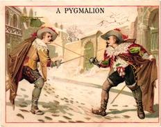 1 Trade Card Chromo   FENCING ESCRIME FECHTEN Pub  A Pygmalion Paris Litho Bataille C1900 - Schermen