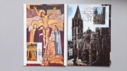 Vatikan 1099/0 Yt 959/60 Sc 932/3 Maximumkarte MK/MC, ESST EUROPA/CEPT 1993, Gemälde V. Utrillo Und Casorati - Cartes-Maximum (CM)