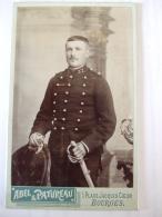 260120176- MILITAIRE DU 37 è  REGIMENT  D'INFANTERIE DE BOURGES - PHOTO SUR CARTON FIN XIXè DEBUT XXè - War, Military