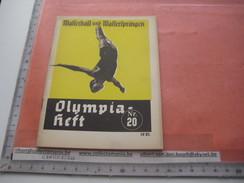 Diving Olympia BERLIN 1936 - Nr 20, Program Jump And Dive, Mit Fotos Amt FUR Sportwerbung Olympische - Programs