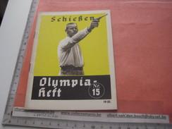 Shooting Olympia BERLIN 1936 - Nr 15, Programa,  Schieszen Revolver Geweer Rifle, Fotos Amt FUR Sportwerbung Olympische - Programs