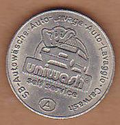 AC -  UNIWASH SELF SERVICE SB AUTOWASCHE AUTO LAVAGE AUTO LAVAGGIO CARWASH WASHCHANLAGE UNICHIP WILDON TOKEN JETON - Monetary/Of Necessity
