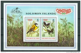 Solomon Islands 1997 Christmas Yv. BL 49** Mi Bl 50** Bird/butterflies - Oiseau/papillons - Salomon (Iles 1978-...)