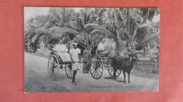 Sri Lanka (Ceylon) Rickshaw & Bullock Hackery Ceylon    Ref 2516 - Sri Lanka (Ceylon)