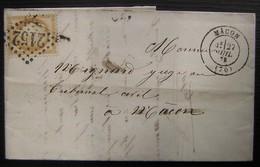 1875 Mâcon Potier Fils à Cluny, Lettre Pour Mâcon - 1849-1876: Periodo Clásico