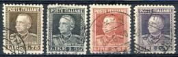 Regno VE3, 1927, SS 45, Effige Del Re, N. 214-217, Usati Cat. € 150 - 1900-44 Vittorio Emanuele III