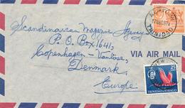 NEWTON / Trinidad & Tobago - 1967  , Brief Nach Copenhagen - Trinidad & Tobago (1962-...)