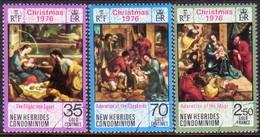 NEW HEBRIDES(English Inscr.) 1976 SG 214-16 Compl.set Used Christmas - English Legend