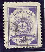 LATVIA 1919 Definitive 50 K.  Without Watermark, Used.  Michel 13A - Latvia
