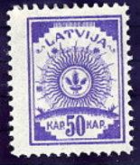 LATVIA 1919 Definitive 50 K.  Without Watermark, LHM / *.  Michel 13A - Latvia