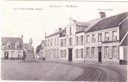 EKEREN EECKEREN Antwerpen 1907 Markt Standbeeld Koning Léopold II Spoorlijn Chemin De Fer Uitg. RVDH Berchem / Scheij - Antwerpen