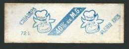 Etiquete Fromage   Rectangulaire  Fleur Des Champs 40%mg   Tete De Vache Nego  Sarthe 72 - Cheese